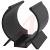 Essentra Components - V-1002 - Component clip, black PVC, screw mt, .38 holding dia