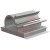 Essentra Components - KKL-4-RT - Gray 1/2 in. 1/16in. 3/4 in. 3/4 in. Adhesive Clamp|70209013 | ChuangWei Electronics