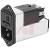 Schurter - 4303.5023 - PEM w/Line Filter, Fusehldr; IEC; C14; Stndrd; 2P; 125VAC; 4A; Pnl Mt-Scrw; QC; 3Pos Slctr