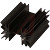 Aavid Thermalloy - 529902B02500G - Heat Sink with large radial fins and solderable pin, black anodize finish